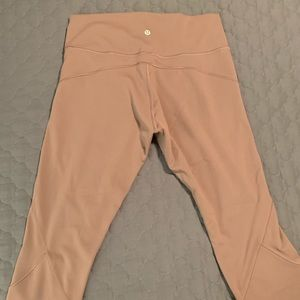 LuluLemon in movement crop vintage plum